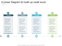 4 Linear Diagram For Build Up Credit Score Infographic Template