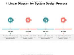4 Linear Diagram For System Design Process infographic Template