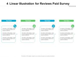 4 Linear Illustration For Reviews Paid Survey Infographic Template