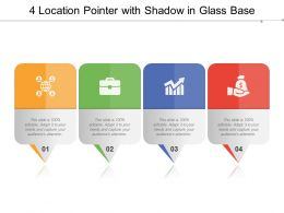 4 Location Pointer With Shadow In Glass Base