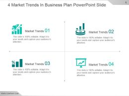 4 Market Trends In Business Plan Powerpoint Slide