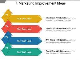 4 Marketing Improvement Ideas Powerpoint Templates