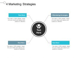 4 Marketing Strategies Ppt Powerpoint Presentation Gallery Images Cpb