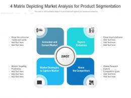 4 Matrix Depicting Market Analysis For Product Segmentation