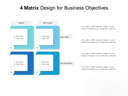 4 Matrix Design For Business Objectives