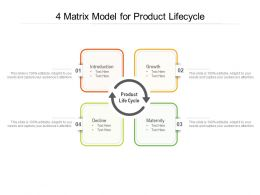4 Matrix Model For Product Lifecycle