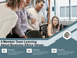 4 Member Team Learning About Business Ethics Values