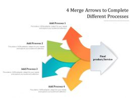 4 Merge Arrows To Complete Different Processes