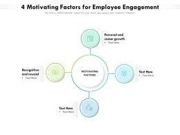 4 Motivating Factors For Employee Engagement