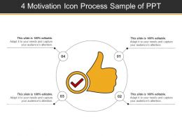 4 Motivation Icon Process Sample Of Ppt