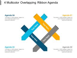 4 Multicolor Overlapping Ribbon Agenda