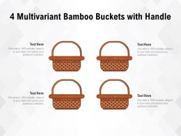 4 Multivariant Bamboo Buckets With Handle