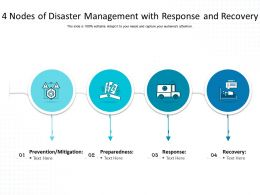 4 Nodes Of Disaster Management With Response And Recovery