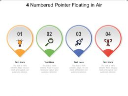 4 Numbered Pointer Floating In Air