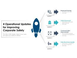 4 Operational Updates For Improving Corporate Safety