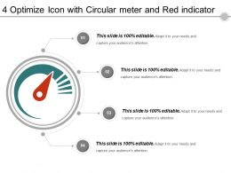 4 Optimize Icon With Circular Meter And Red Indicator