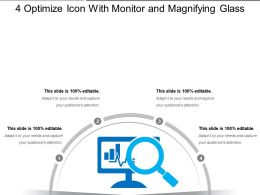 4 Optimize Icon With Monitor And Magnifying Glass