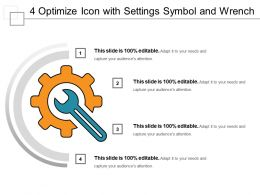 4 Optimize Icon With Settings Symbol And Wrench