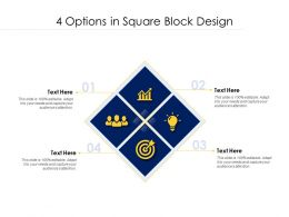 4 Options In Square Block Design
