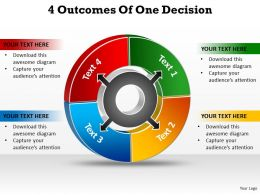 4 outcomes of one decision powerpoint diagram templates graphics 712