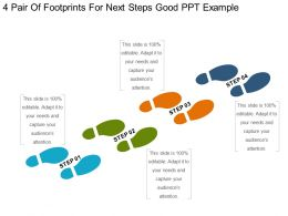 4 Pair Of Footprints For Next Steps Good Ppt Example