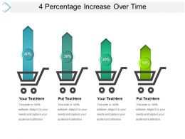 4 Percentage Increase Over Time Powerpoint Slides Design