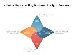 4 Petals Representing Business Analysis Process