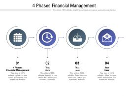 4 Phases Financial Management Ppt Powerpoint Presentation Infographic Cpb