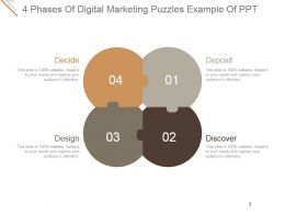 4 Phases Of Digital Marketing Puzzles Example Of Ppt