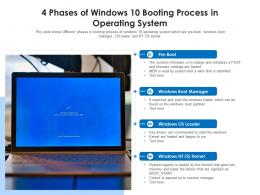 4 Phases Of Windows 10 Booting Process In Operating System
