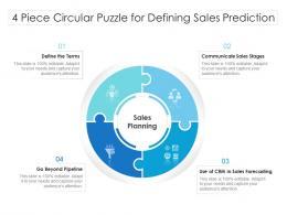 4 Piece Circular Puzzle For Defining Sales Prediction