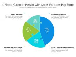 4 Piece Circular Puzzle With Sales Forecasting Steps