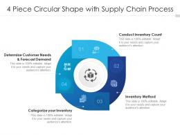 4 Piece Circular Shape With Supply Chain Process