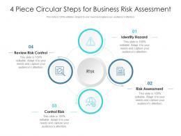4 Piece Circular Steps For Business Risk Assessment