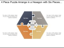 4 Piece Puzzle Arrange In A Hexagon With Six Pieces Around A Centre One