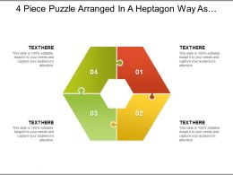 4 Piece Puzzle Arranged In A Heptagon Way As Seven Piece With Empty Centre