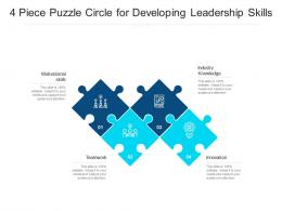 4 Piece Puzzle Circle For Developing Leadership Skills