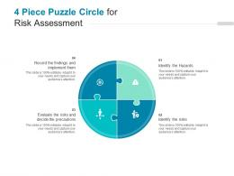 4 Piece Puzzle Circle For Risk Assessment