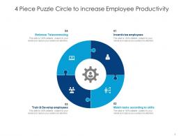 4 Piece Puzzle Circle To Increase Employee Productivity