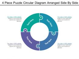 4 Piece Puzzle Circular Diagram Arranged Side By Side