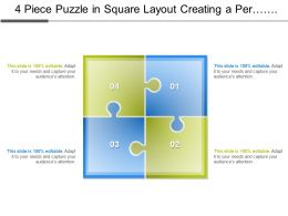 4 Piece Puzzle In Square Layout Creating A Perplexity Of Process