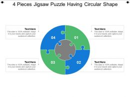 4 Pieces Jigsaw Puzzle Having Circular Shape