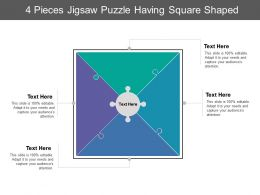 4 Pieces Jigsaw Puzzle Having Square Shaped