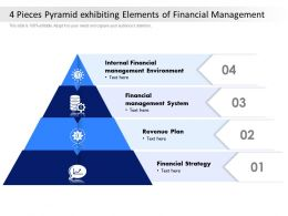 4 Pieces Pyramid Exhibiting Elements Of Financial Management