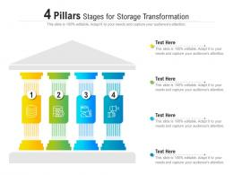 4 Pillars Stages For Storage Transformation Infographic Template