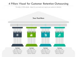 4 Pillars Visual For Customer Retention Outsourcing Infographic Template