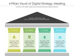 4 Pillars Visual Of Digital Strategy Meeting Infographic Template