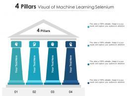 4 Pillars Visual Of Machine Learning Selenium Infographic Template