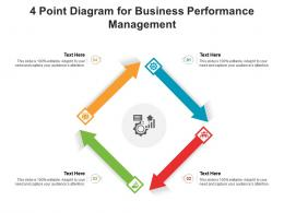 4 Point Diagram For Business Performance Management Infographic Template