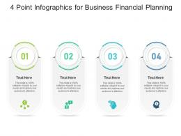 4 Point For Business Financial Planning Infographic Template